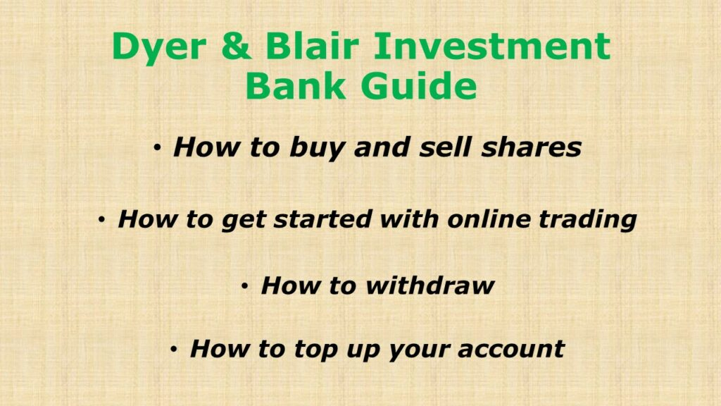 Dyer and Blair Investment Bank